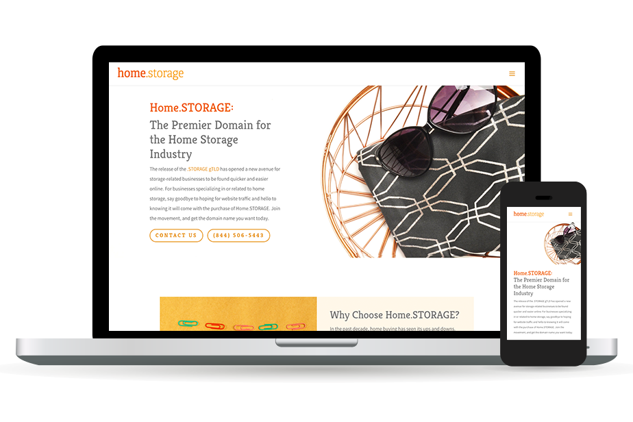 Home.storage Website Homepage