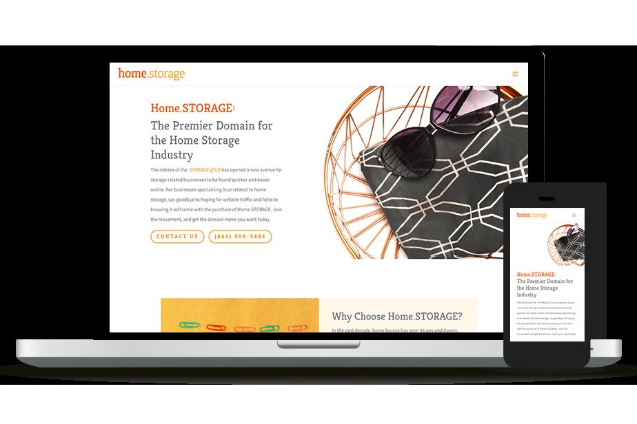 Home.storage Website Homepage