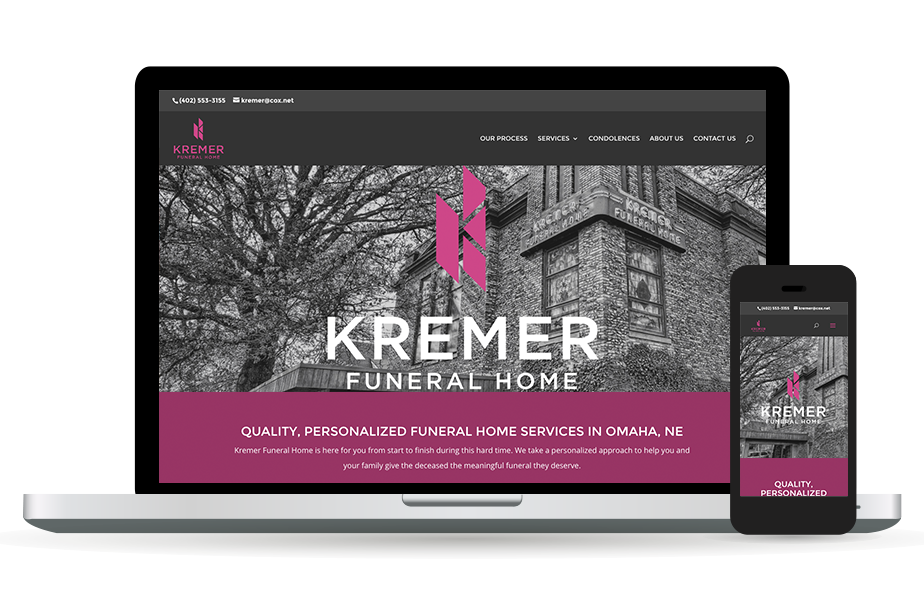 Kremer Funeral Home Website Homepage