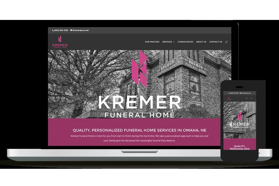 Kremer Funeral Home Website Homepage
