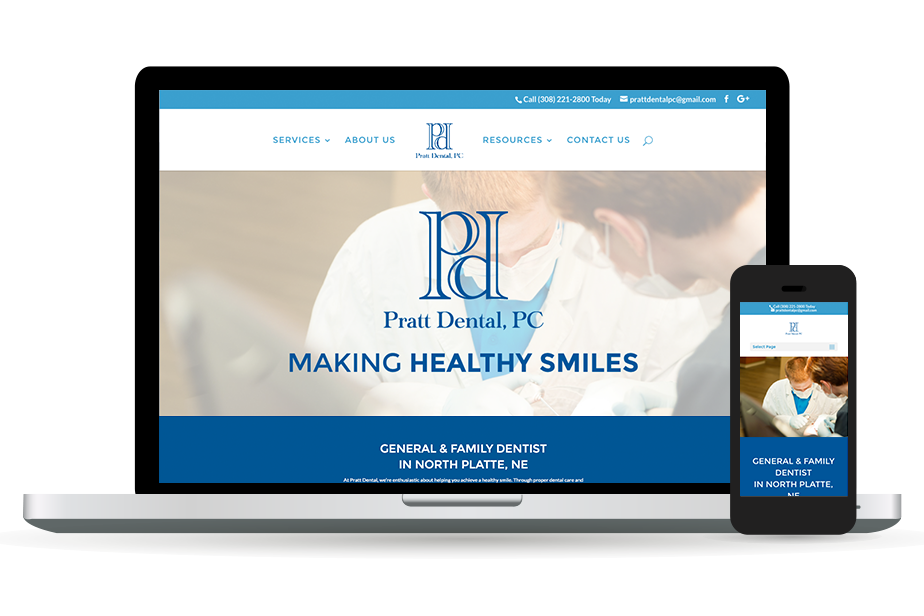 Pratt Dental Website Homepage