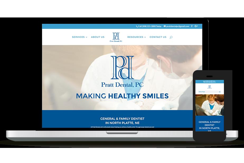 Pratt Dental Website Homepage
