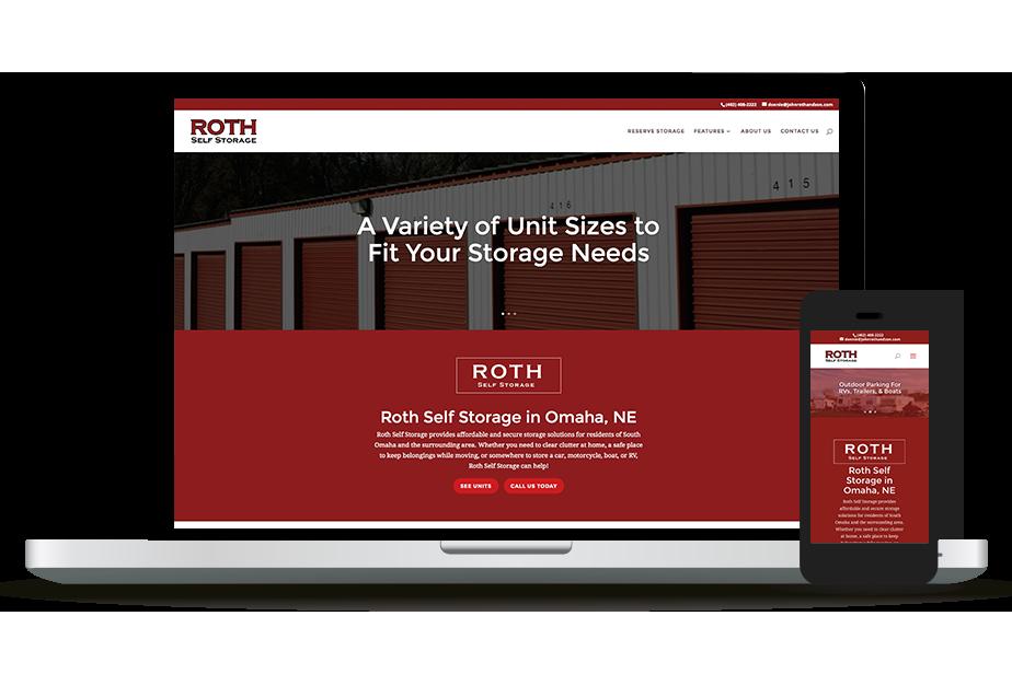 Roth Self Storage Website Homepage
