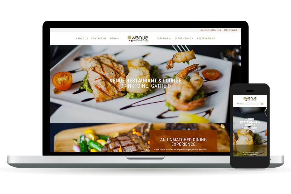 Venue Restaurant & Lounge Homepage