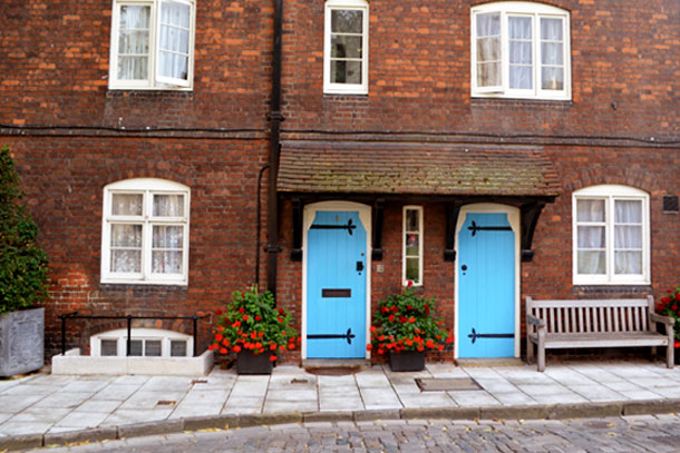 adorable brick homes near the Tower of London