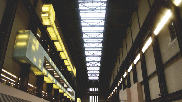 interior of Tate Modern Museum in London
