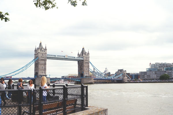 photograph of the Tower Bridge near the London Tower