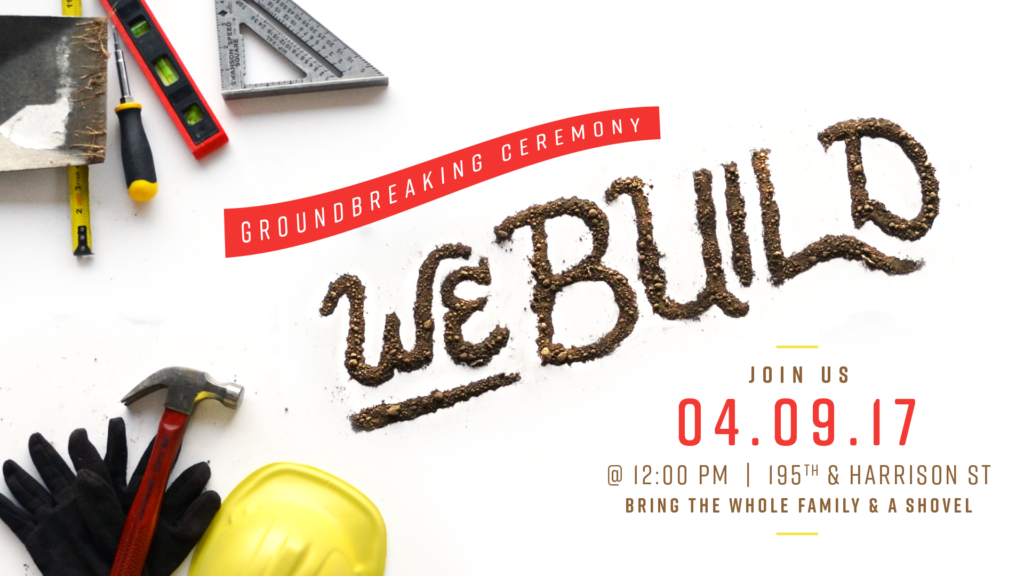 WE Build Dirt Lettering Graphic