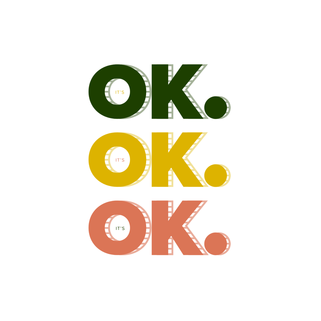 It's OK stoplight graphic | Katie Kassel Graphic Designer