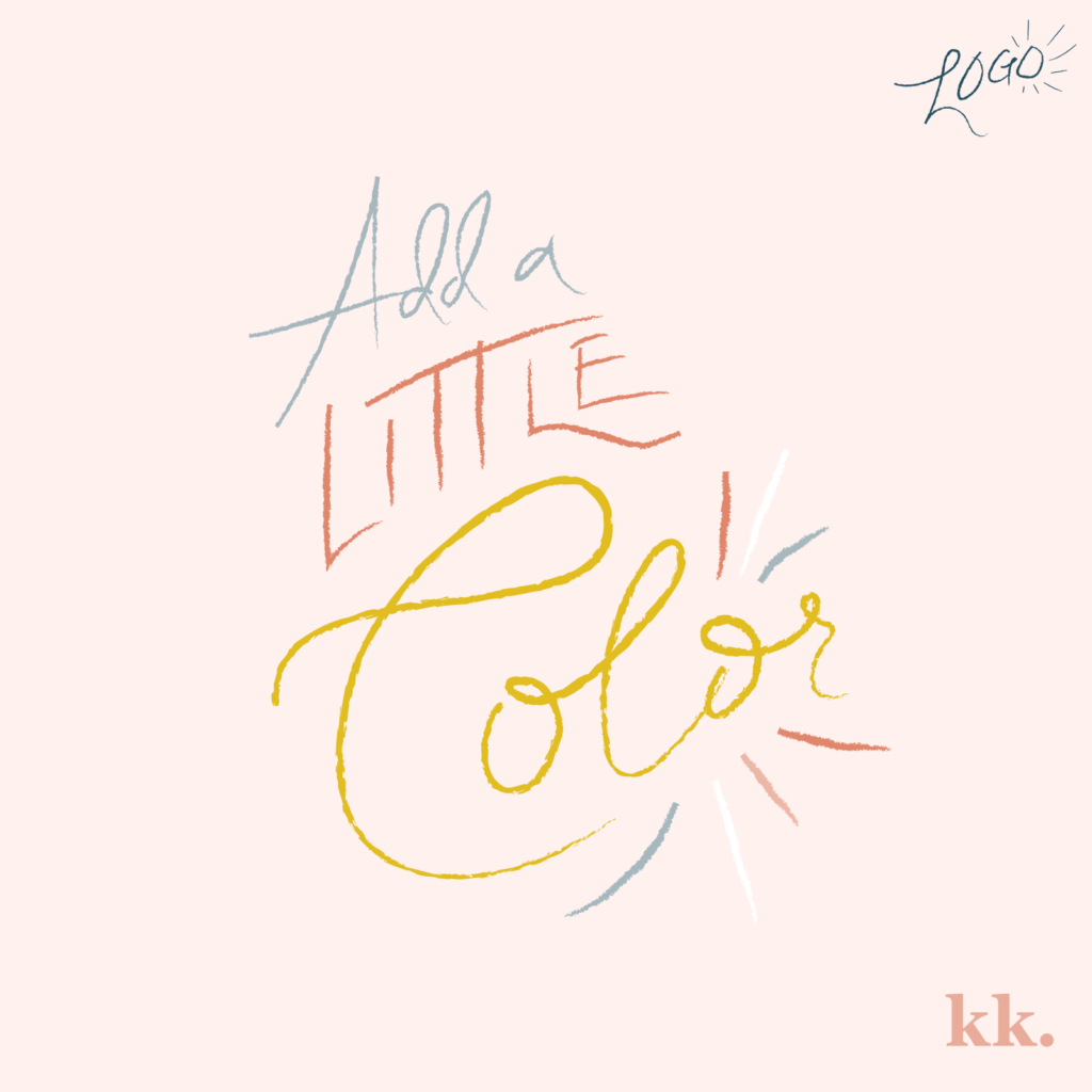 Logo Process - Add Color | Katie Kassel, Graphic & Web Designer