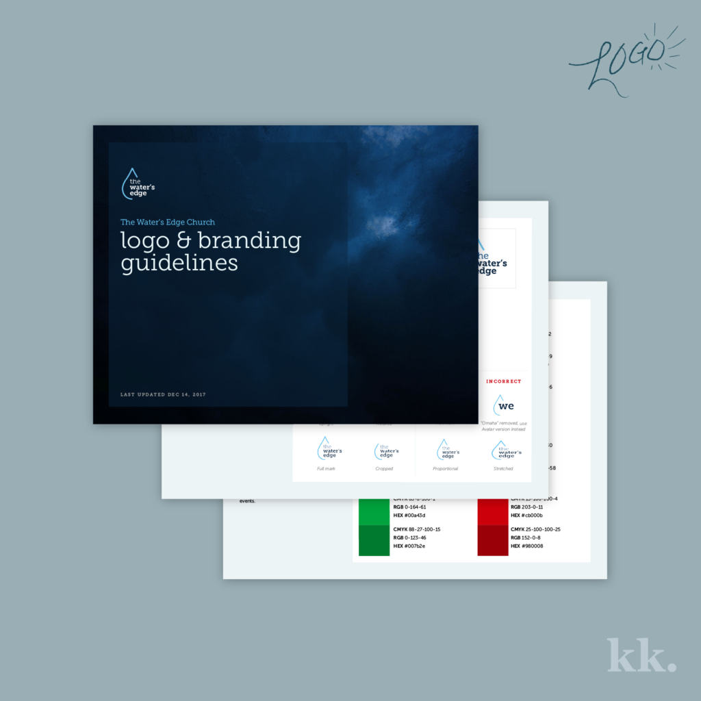 My Logo Process - Brand Guide | Katie Kassel, Graphic & Web Designer