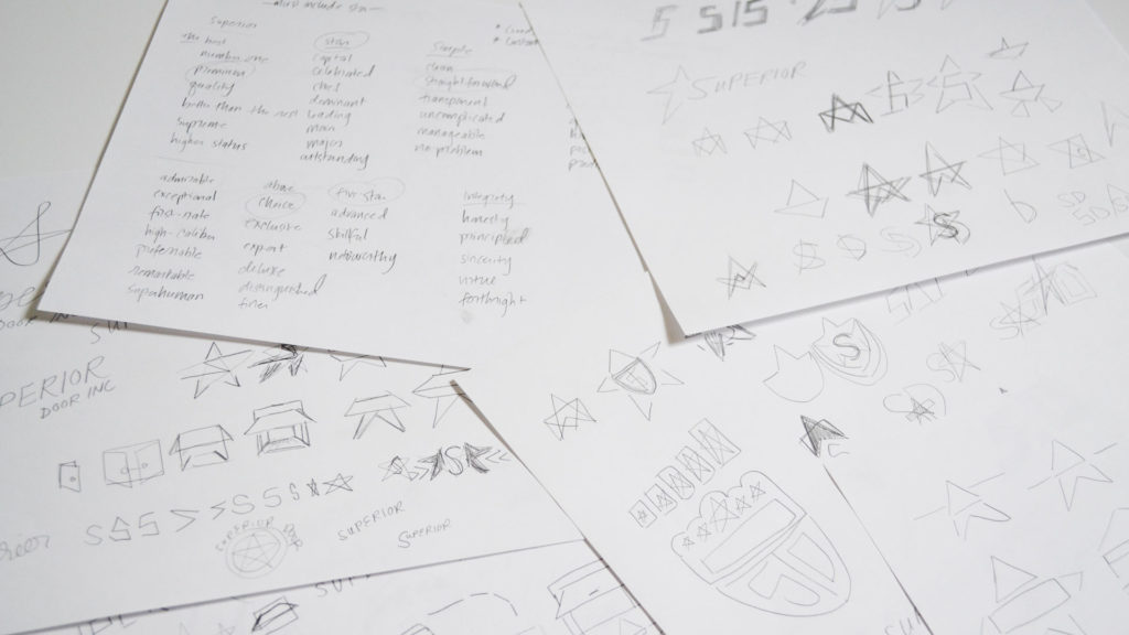 My Logo Process - Research Sketches | Katie Kassel, Graphic & Web Designer