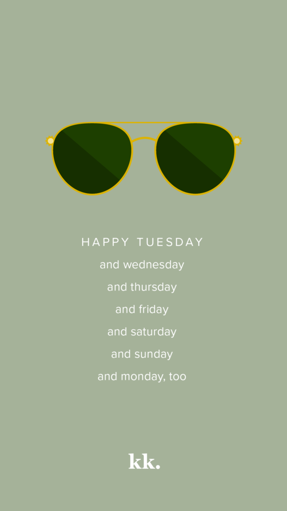 Sunglasses for Every Day of the Week | Katie Kassel, Graphic & Web Designer