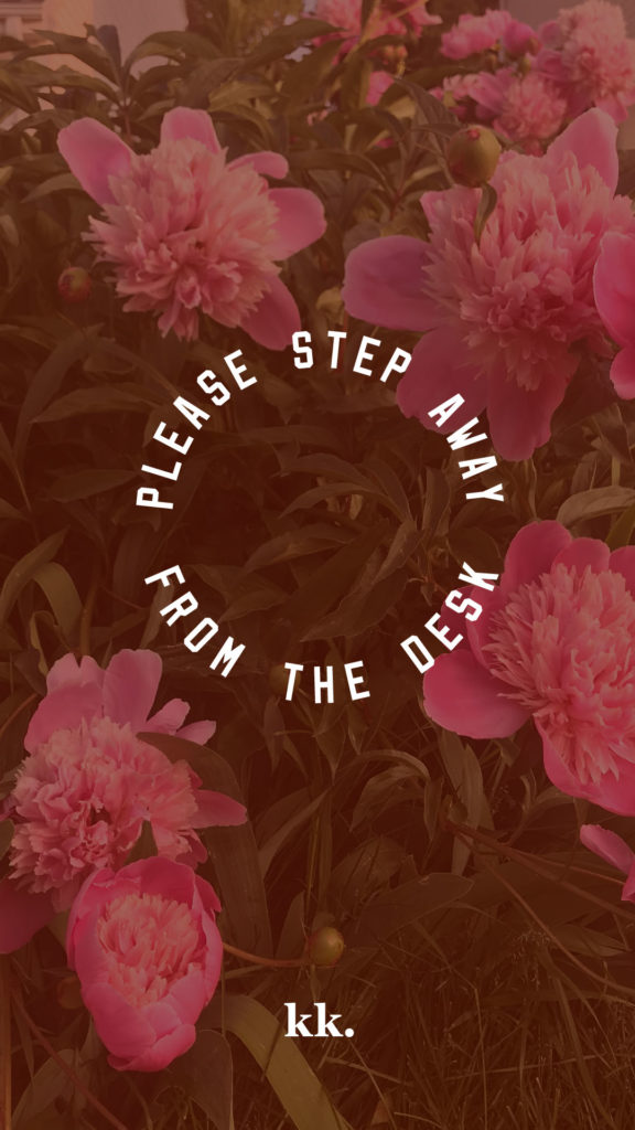 """""""Please step away from the desk"""" print by Katie Kassel"""