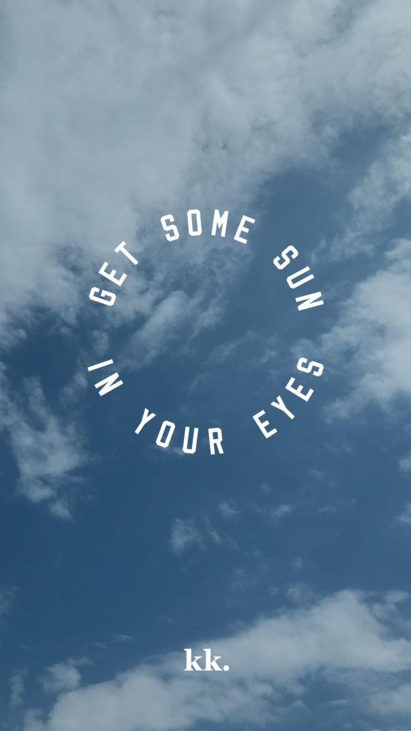 """Get some sun in your eyes"" print by Katie Kassel"