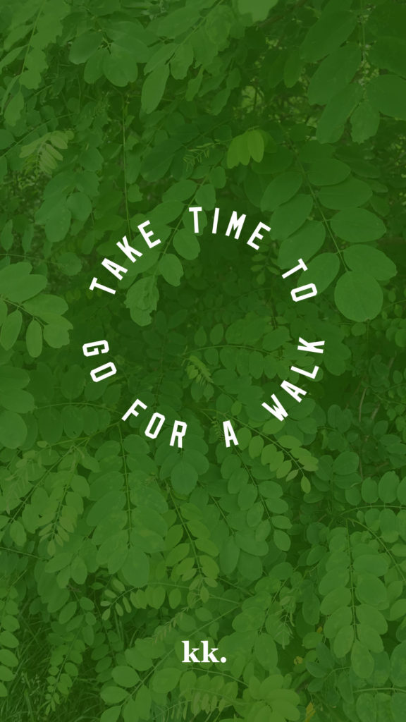 """Take time to go for a walk"" print by Katie Kassel"