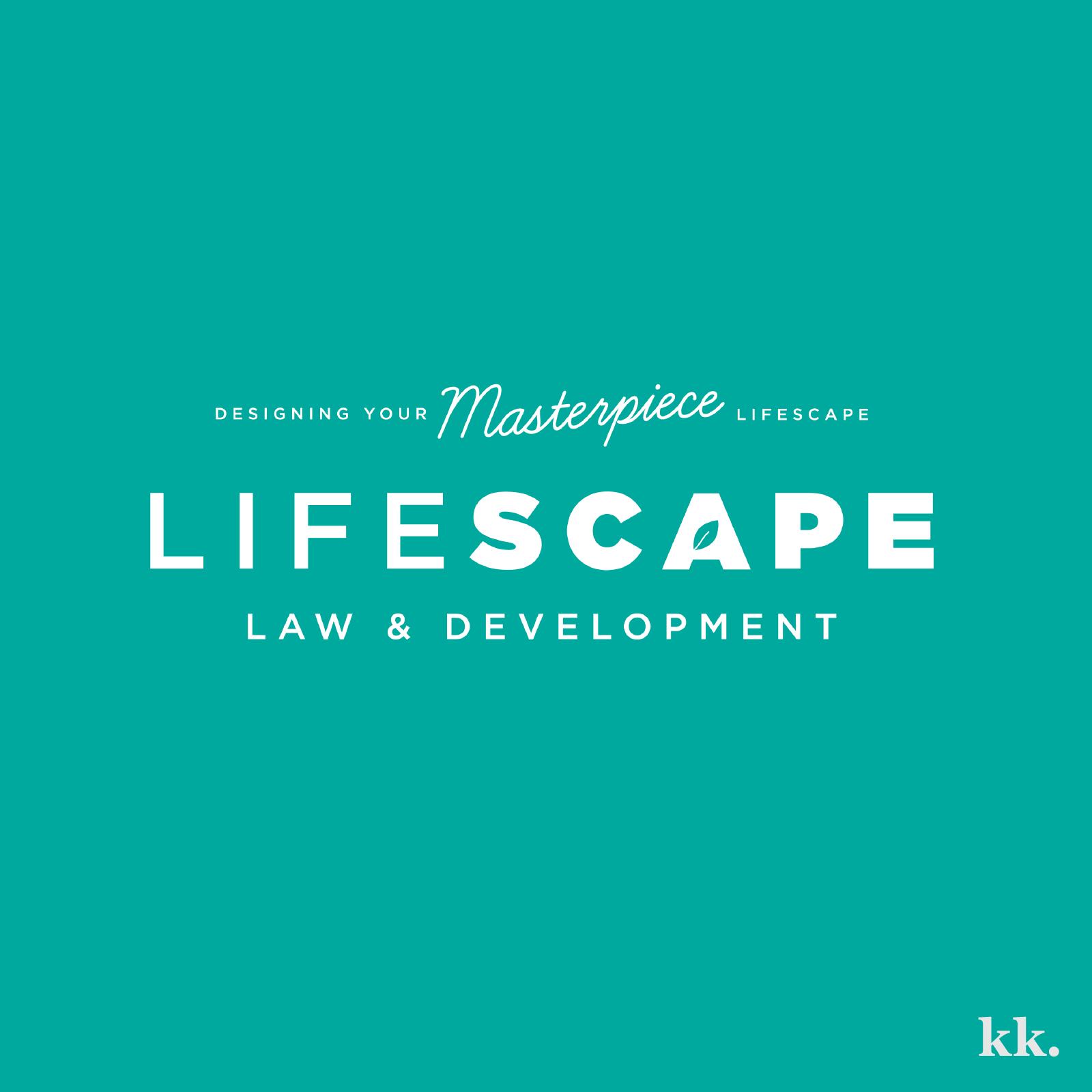 Lifescape Law & Development Logo | Katie Kassel, Kassel Creative
