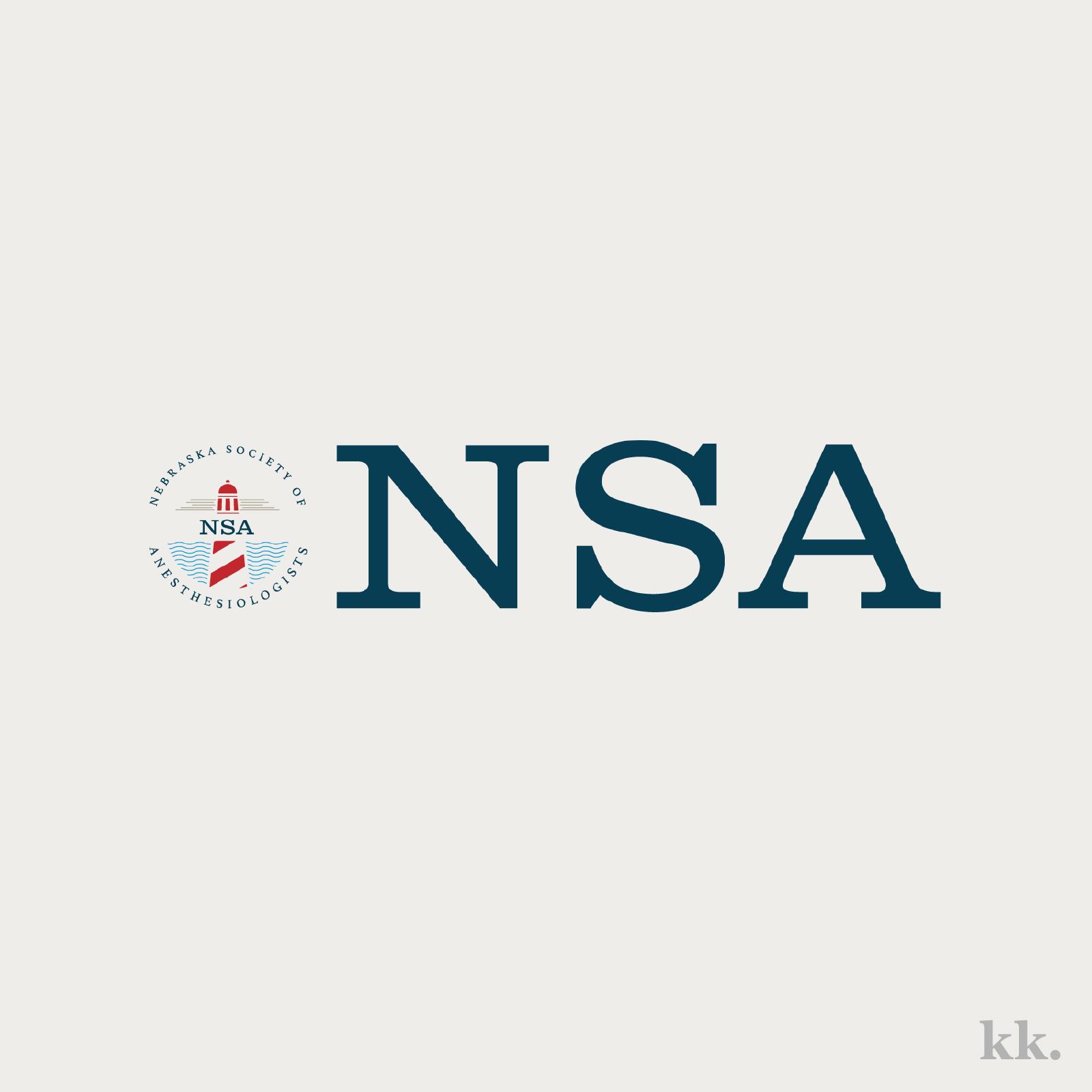 Nebraska Society of Anesthesiologists Logo | Katie Kassel, Kassel Creative